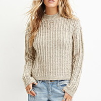 Boxy Mock Neck Sweater