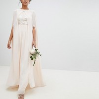 TFNC Chiffon Maxi Bridesmaid Cape Cover Up at asos.com