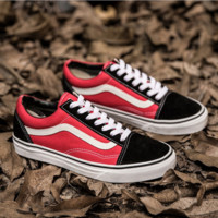 Vans Classics Old Skool Black Sneaker Womwn/Man Fashion red