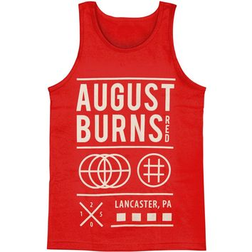 August Burns Red Men's  Shapes Mens Tank Red Rockabilia