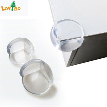 5pcs/lot Rubber Ball Transparent L Shape Baby Safety Silicone Corner Protector Kids Soft Clear Table Desk Edge Corner Guards New