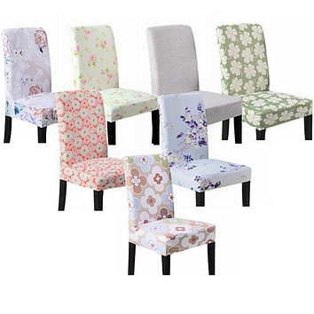 Meijuner Floral Elastic Chair Cover Printing Stretch Polyester Chair Case For Wedding Dining Room Office Hotel Chair Banquet