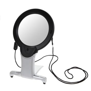 2.5X100mm Neck Hung Hard Resin Magnifying Glass 2.5X LED Light Magnifier Loupe for Collecting Jewellery Carving Tailor