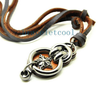 soft leather necklace,men leather long necklace, women leather necklace  CR32