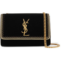 Saint Laurent - Monogramme Kate small Lurex-trimmed velvet shoulder bag