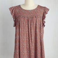 Folk Duo Tunic in Red