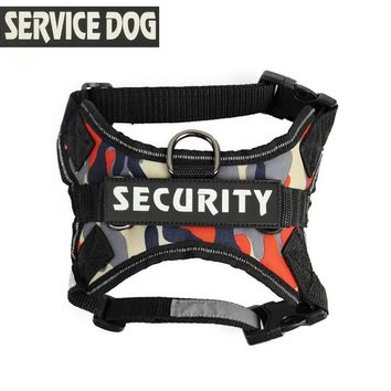 Pet  Dog Harness Police Collies Collar Camouflage Service Security Dog Training Vest Pet Saddle Harness Pet Chest straps