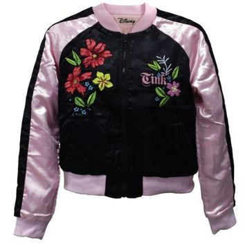 PEAPGQ9 Tinkerbell - Flowers Reversible Juniors Track Jacket