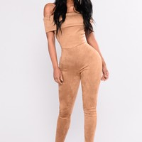 Can't Be Bothered Jumpsuit - Brown