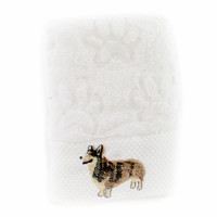 Corgi Embroidery Face/Kitchen Towel