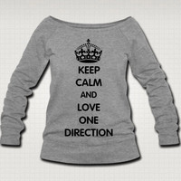 Keep Calm and Love One Direction Sweat Shirt  - Free Shipping