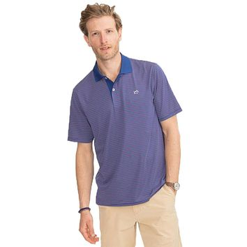 Fireworks Performance Striped Polo Shirt by Southern Tide