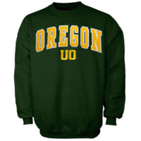 Oregon Ducks Green Mascot One Crew Sweatshirt