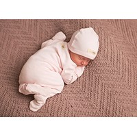 L'OVEDBABY Organic Blush Gloved Sleeve Overall