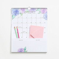 2018 Floral Pocket Grid Calendar