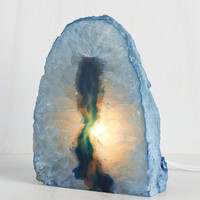 Art is Long and Life is Quartz Lamp in Blue | Mod Retro Vintage Decor Accessories | ModCloth.com