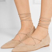 Michael Kors Collection - Kallie suede point-toe flats