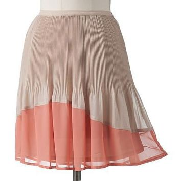 LC Lauren Conrad Pleated Chiffon Skirt