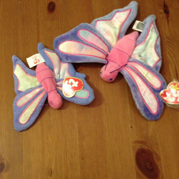 Dragonflies Beanie Baby - Dragonfly Mother and Baby set Ty Beanie Baby Retired RARE and Together!