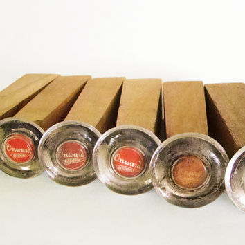 Vintage Furniture Legs, Pivoting Onward Kitchener Glass Coasters, Set of 6, Unfinished Hardwood