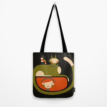TAIL HUG Tote Bag by Terry Runyan