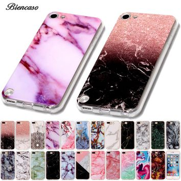 Biencaso Marble Soft TPU Phone Cases For iPhone 8 7 Plus 4 4S 5 5S 5c SE 6 6s iPod touch 5 6 Cover Skin Shell Fundas Coque B02
