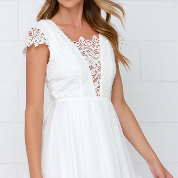 Lavish in Lace Ivory Lace Dress