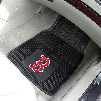 "MLB - Boston Red Sox 2-pc Vinyl Car Mats 17""x27"""