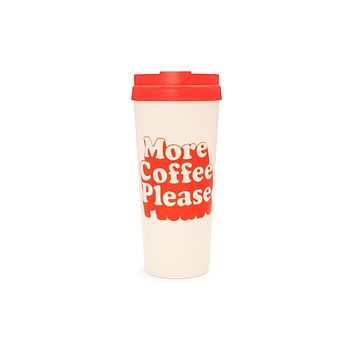 BAN.DO DELUXE HOT STUFF THERMAL MUG - MORE COFFEE PLEASE