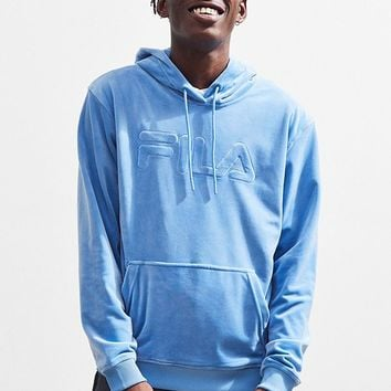 FILA Asher Velour Hoodie Sweatshirt | Urban Outfitters