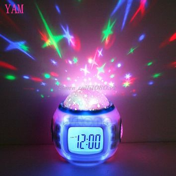 Sky Star Children Baby Room Night Light Projector Lamp Bedroom Music Alarm Clock #S018Y# High Quality