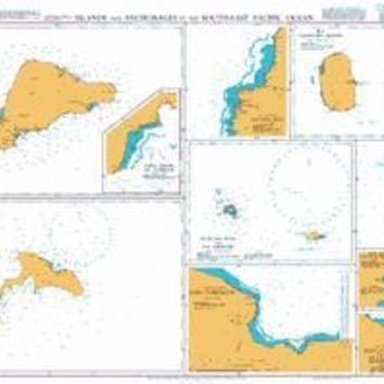 British Admiralty Nautical Chart 1389: Islands and Anchorages in the South-East Pacific Ocean