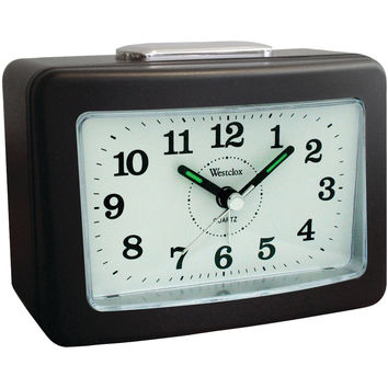 Westclox Quartz No-tick Loud-bell Analog Alarm Clock