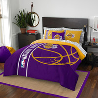 Los Angeles Lakers NBA Full Comforter Bed in a Bag (Soft & Cozy) (76in x 86in)