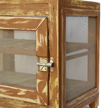 French Food Safe and Cheese Cupboard. Kitchen Pantry Cabinet. Vintage French Cheese Safe. Rustic French Cottage Kitchen Decor. Garde Manger.