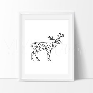 Poly Geometric Deer