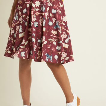 A-Line Circle Skirt with Pockets in Mystery Assistants