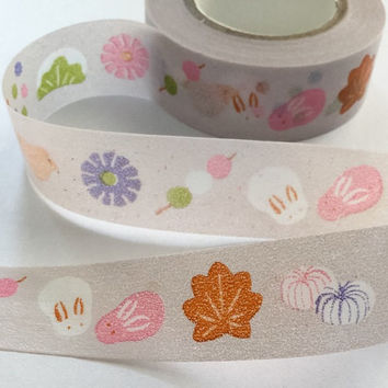 Washi Tape | Japan Adhesive Tape | Decorative Masking Sticky Tape | Scrapbooking Tools Favor Stationery | Japanese Snack 10m K13