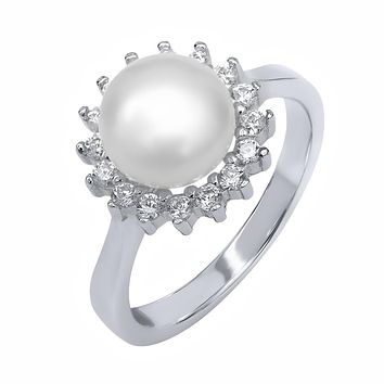 925 Silver Cultured Freshwater Pearl Ring