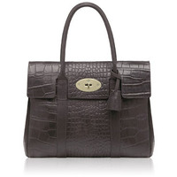 Mulberry - Bayswater in Chocolate Printed Leather