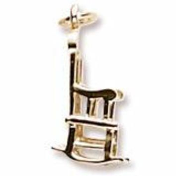 Rocking Chair Charm in Yellow Gold Plated