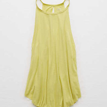 Aerie Hi-Neck Tank, Bright Neon Green