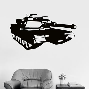 Wall Decal Tank War Military Decor Boys Room Vinyl Stickers Unique Gift (ig2961)