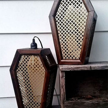 Coffin Sconce, Lantern, Coffin light, Coffin, Gothic, Gothic Furniture, Sconce