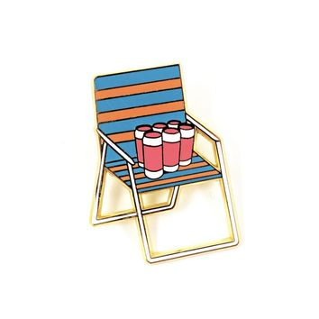 Chill Chair Enamel Pin