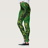 Kelly green & yellow, leggins leggings