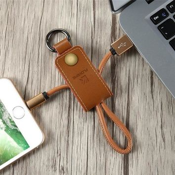 Leather-Lightning-Cable-Key chain