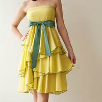 Waft ... Light Green Cocktail Dress 2 Sizes Available