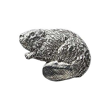Creative Pewter Designs Pewter Beaver Full Body Handcrafted Lapel Pin Brooch M164
