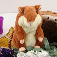 Original Russian Talking Hamster Pet Speaking Hamster Repeat Mouse Electronic&Interactive Plush Stuffed Toys Best Kids Gift wu